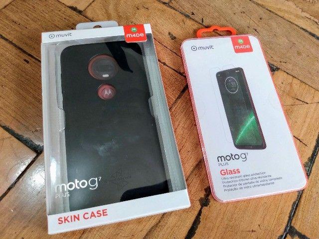 Capinha e película originais Motorola para o Moto G7 Plus