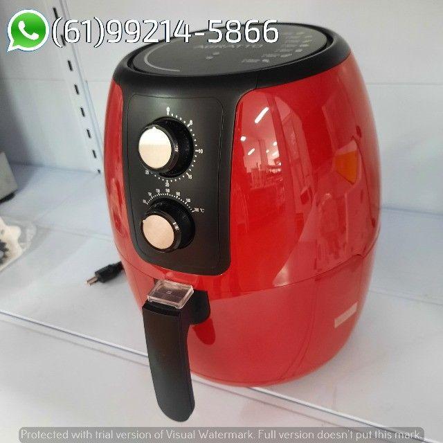Fritadeira Elétrica Air Fryer cor Vermelha Supremma 3,6 Litros Agratto - Foto 4