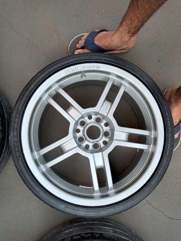 Troco roda aro 17 furaçao 5x100 - Foto 2
