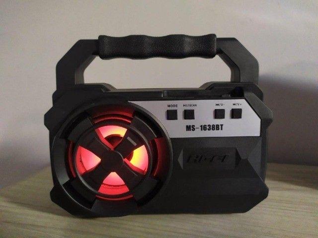 Caixa de som Bluetooth Com entrada USB - Foto 3