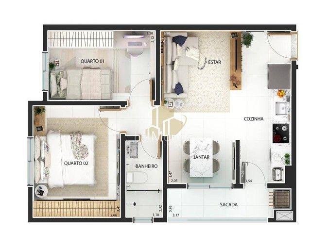 Apartamento com 2 dormitórios à venda, 46 m² por R$ 217.000,00 - Boqueirão - Curitiba/PR - Foto 17