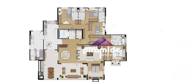 Apartamento com 4 dormitórios à venda, 259 m² por R$ 1.695.000,00 - Jardim das Colinas - S - Foto 12