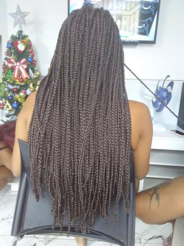 Colocação de mega hair e tranças box - Foto 2