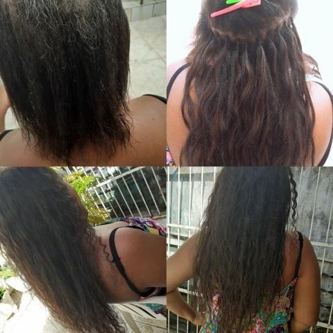 Colocação de mega hair e tranças box