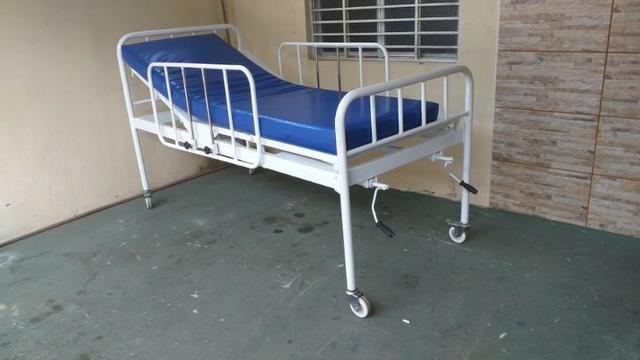 Cama Hospitalar 02 Manivelas 04 Movimentos Venda * - Foto 2