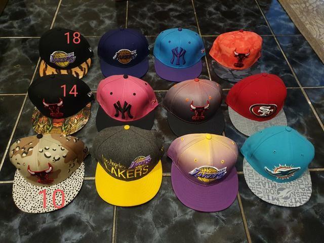Bonés Chapéu New Era Nfl Nba Mlb Originais Promoção Snapback - Foto 2
