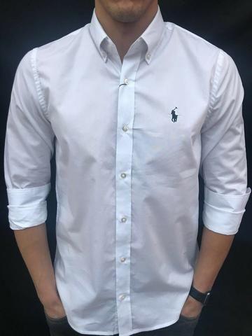 Camisa social polo ralph lauren branca custom fit - Roupas e ... c11ace7a33aaf