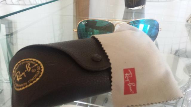 4e1c96b9a5823 Óculos Ray Ban Rayban Aviador Azul Espelhado Original - Bijouterias ...