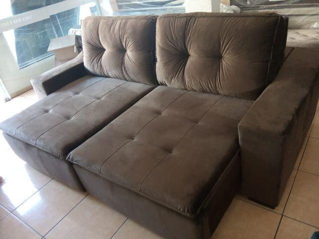 Sofa reto 2,50 retrátil e reclinável - Foto 2