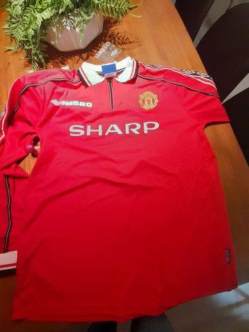 Camisa manchester united Retro - Foto 2