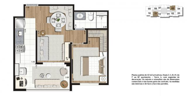 Apto entrega em outubro, 42 m² com excelente localização. - Foto 18