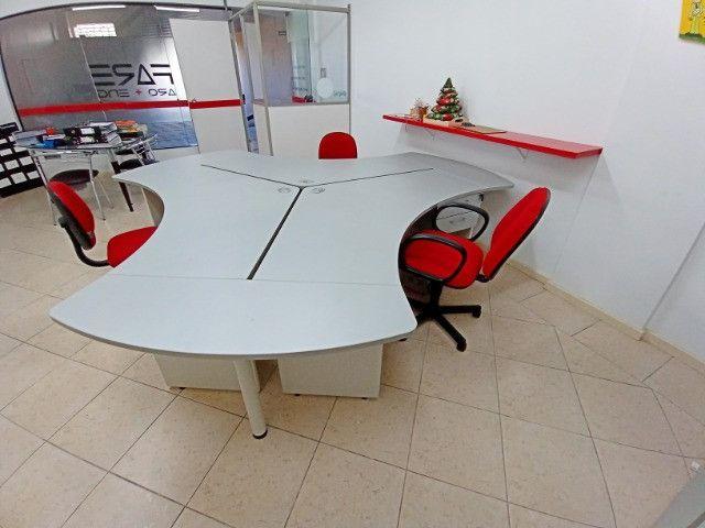 "Mesa Escritorio angular 120° 3 unidades(ilha), usadas, ""Bortolini"" - Foto 3"