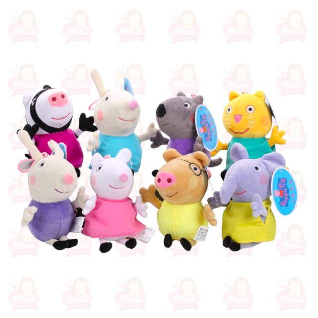 Amigos da Peppa em pelúcia 8 personagens
