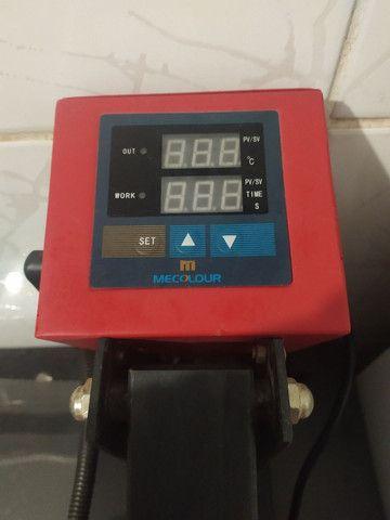 Prensa térmica plana 40x40 mais impressora - Foto 3