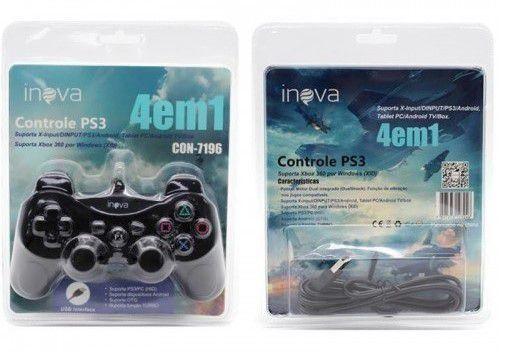 Controle PS3 Inova 4 EM 1 CON-7196