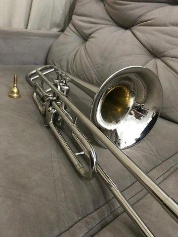 Trombone em sib shelter niquelado top  - Foto 3