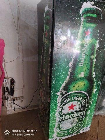 Freezer adesivado da Heineken - Foto 3