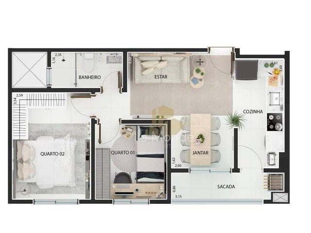 Apartamento com 2 dormitórios à venda, 46 m² por R$ 217.000,00 - Boqueirão - Curitiba/PR - Foto 18