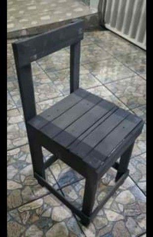 Lote de cadeiras de pallet - Foto 4