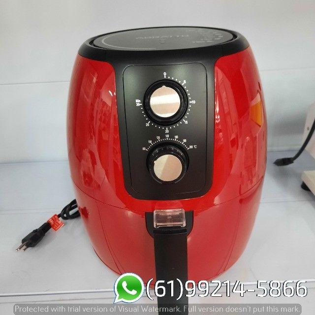 Fritadeira Elétrica Air Fryer cor Vermelha Supremma 3,6 Litros Agratto