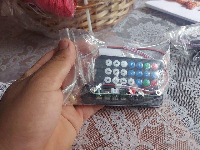 Placa mp3 via Bluetooth  com controle remoto - Foto 2