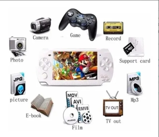 Console De Jogos Portátil Psp X6 Video Game Com 10000 Jogos - Foto 4