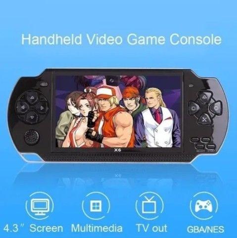 Console De Jogos Portátil Psp X6 Video Game Com 10000 Jogos - Foto 6