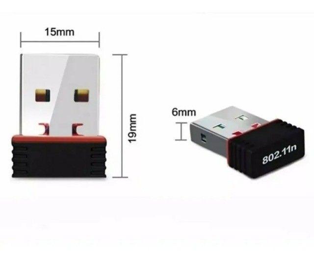 Mini Adaptador Wireless Usb 2.4ghz Wifi 950mbps Nano Sem Fio - Foto 2