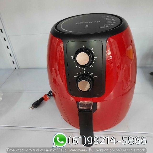 Fritadeira Elétrica Air Fryer cor Vermelha Supremma 3,6 Litros Agratto - Foto 2