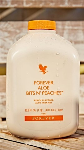 Suco de aloe Bits N' peaches ( babosa e pêssego chinês ) Forever - Foto 2