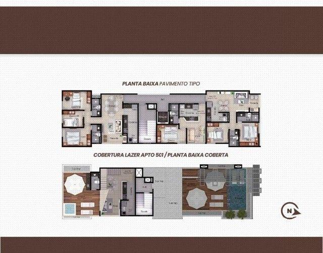 Apartamento Bancários com, 1 ou 3 Quartos com Área de Lazer na Cobertura - Em Construção! - Foto 6