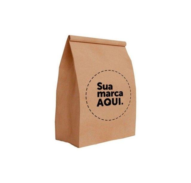 Saco Kraft personalizado. Caixa de batata. Papel Acoplado. Adesivo. Embalagem  - Foto 2