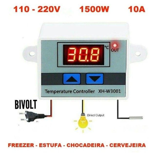 Controlador De Temperatura Bivolt Para Chocadeira e Outros