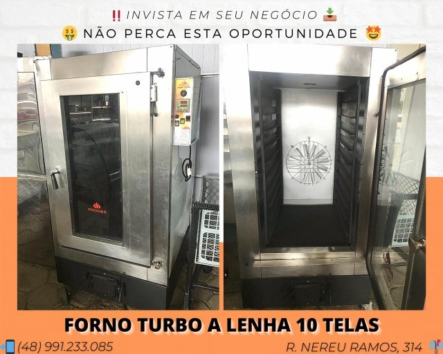Forno turbo a Lenha 10 telas - Progas   Matheus