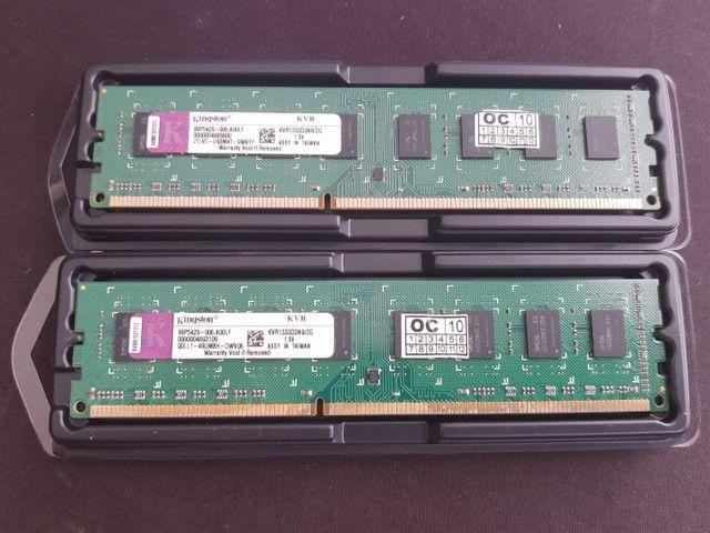 2 memórias Kingston de 2g DDR3 1333mhz