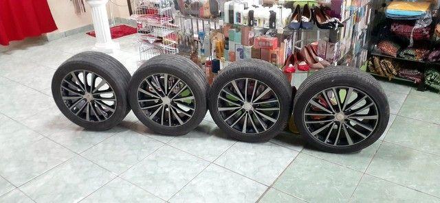 aro 17 com pneus aceito cartão ...4 ×100 - Foto 2