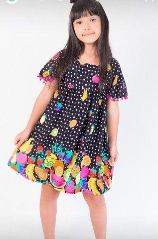 Vestido em Viscose Festa das Frutas