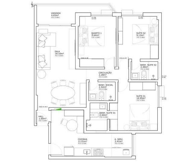 Apartamento 85m² Rua Conde De Bonfim, 850 Tijuca R.J (A-I.V.000007) - Foto 11