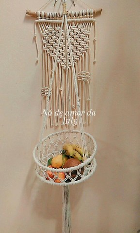 Fruteira de macrame
