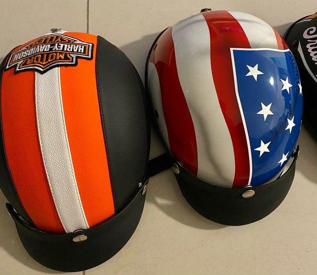 Lindos capacetes Scooter elétrica / bike elétrica / harley elétrica
