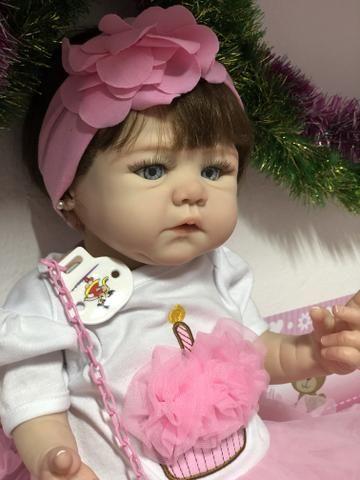 Bebê Reborn hiper realista de silicone parece de verdade - Foto 6