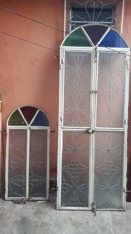 Vendo porta de ferro e janela - Foto 4