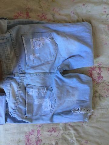 Calça jeans rasgadinha 36 - Foto 2