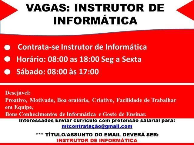 Instrutor de Informática/ cursos profissionalizantes