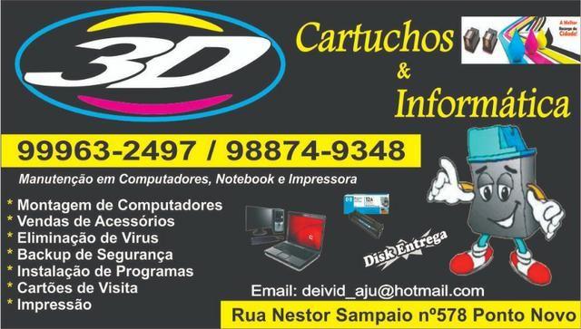 Recarga de cartuchos,tonner,manutenção em impressoras,cpu e notebook
