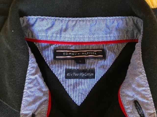 d957cc26010 Camisa preta polo Tommy Hilfiger