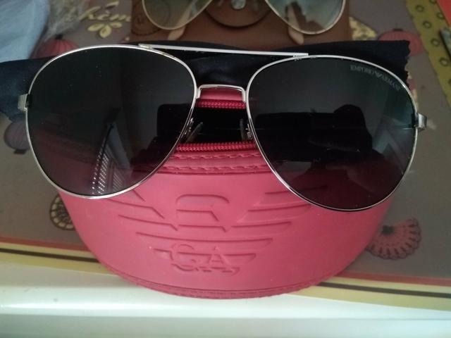 Óculos Ray ban e Emporio Armani estilo aviador - Bijouterias ... b333f66200