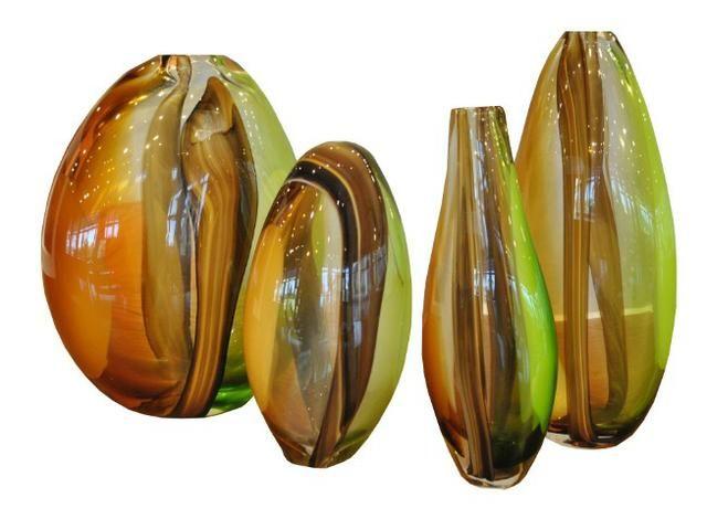 Conjunto 4 Vasos Murano Fino Moveis