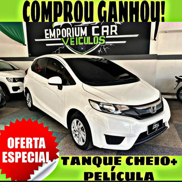 TANQUE CHEIO SO NA EMPORIUM CAR!!! HONDA FIT LX 1.5 AUT ANO 2016 COM MIL DE ENTRADA