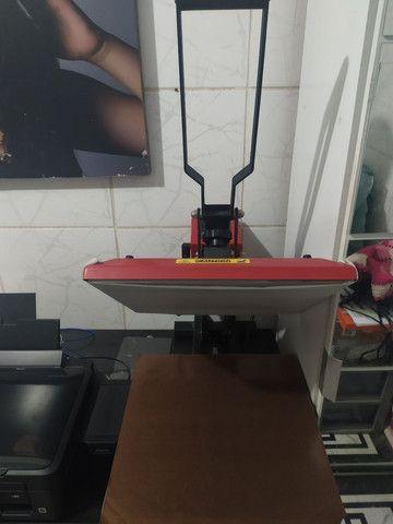 Prensa térmica plana 40x40 mais impressora